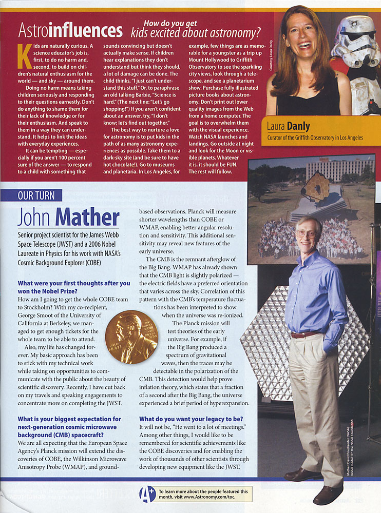 Astronomy with John Mather